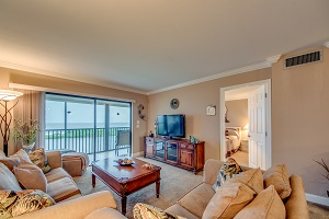Living Room and view 7100 Estero Blvd #505