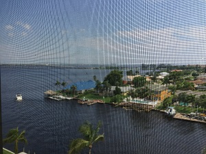 View from penthouse lanai at River Towers Condos