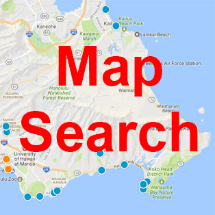 Search Kahala homes for sale by map