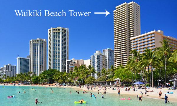 Waikiki Beach Tower on Oahu, Hawaii