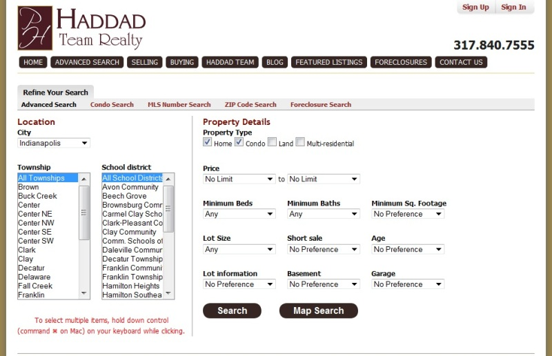 Advanced search for Advanced home search