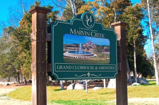 Marvin Creek Entrance