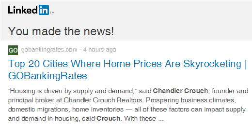 Chandler Crouch Realtors in the News
