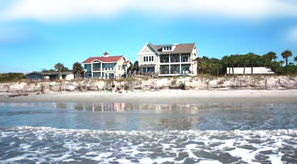 Homes along Folly Beach