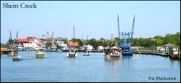 Shem Creek in Mount Pleasant SC