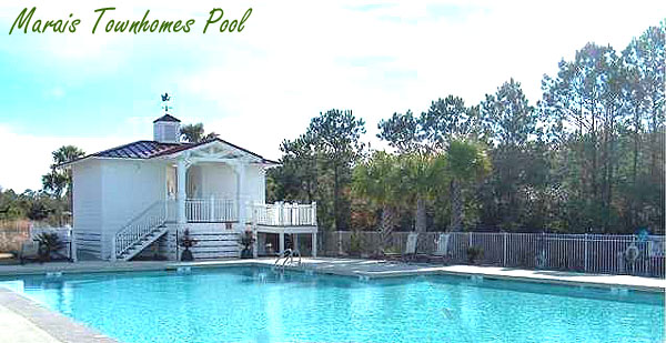 Marais Townhomes Pool in Seaside Farms