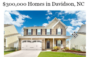 YouTube Homes For Sale in Davidson for $300,000