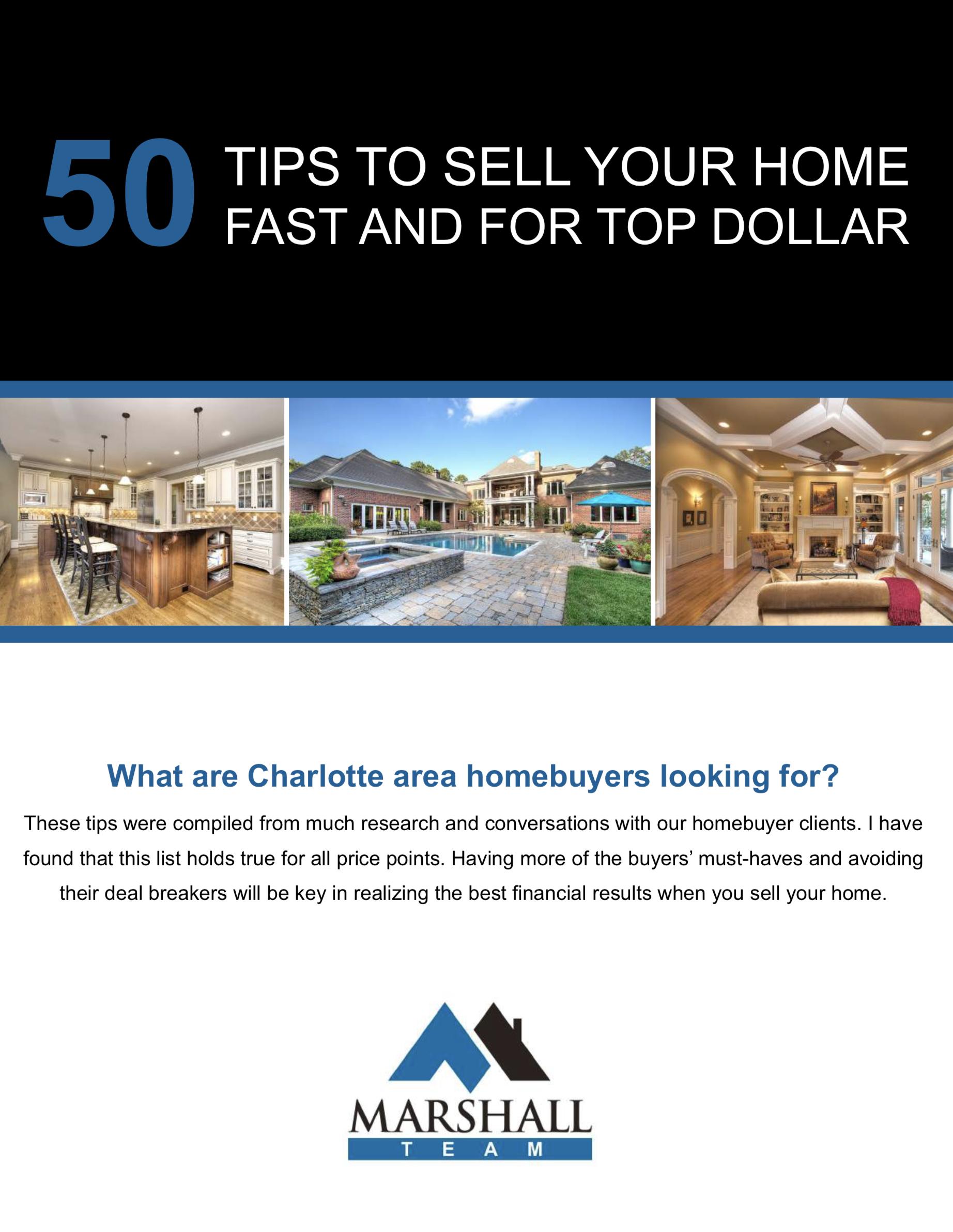 50 Tips to Sell Your Charlotte Area Home