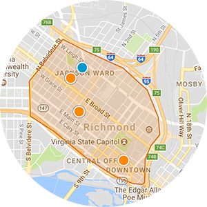 Downtown Richmond Real Estate Map Search