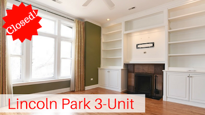 Lincoln Park 3 Flat For Sale