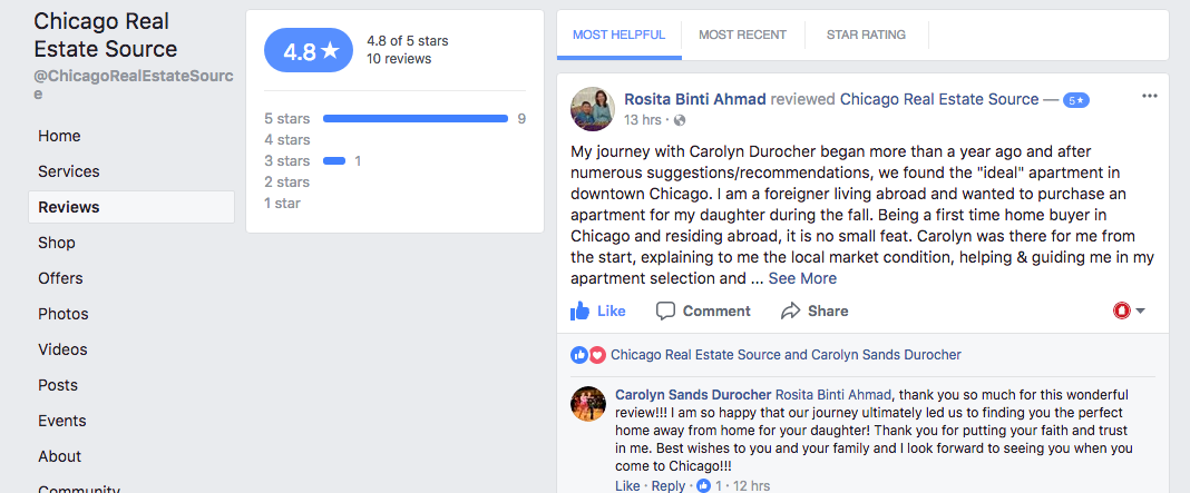 Facebook Reviews Carolyn Durocher & Jose Hernandez