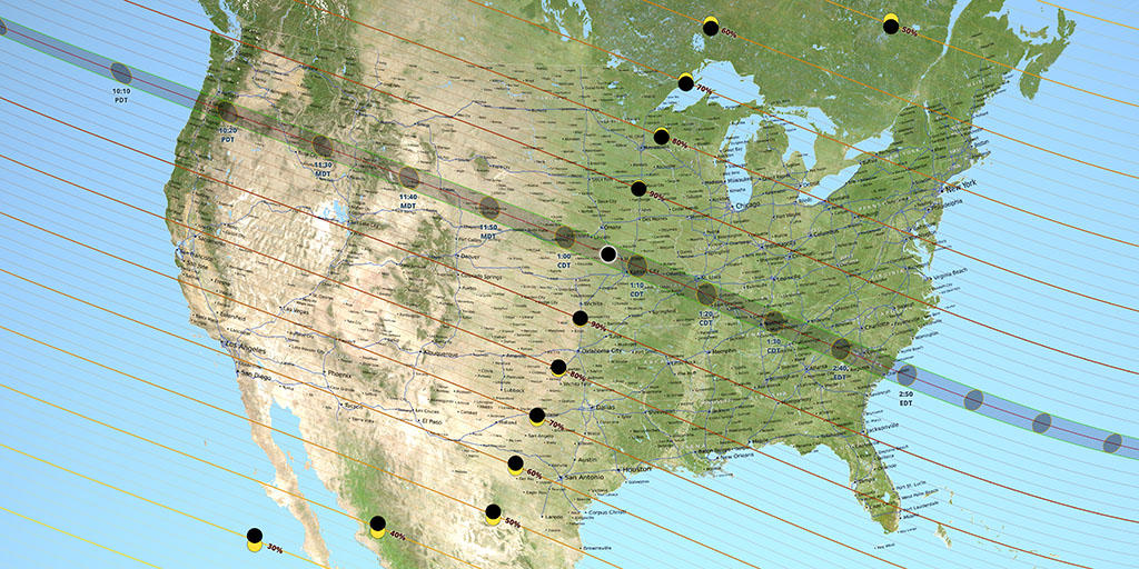 nasa eclipse map