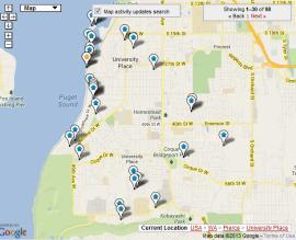 university place map