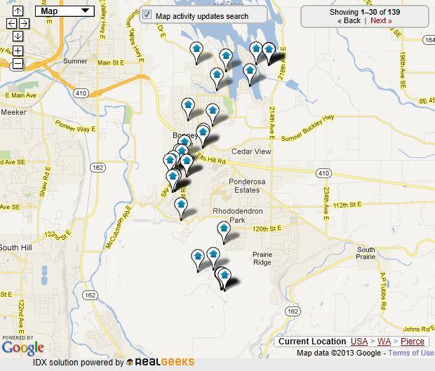 bonney lake map