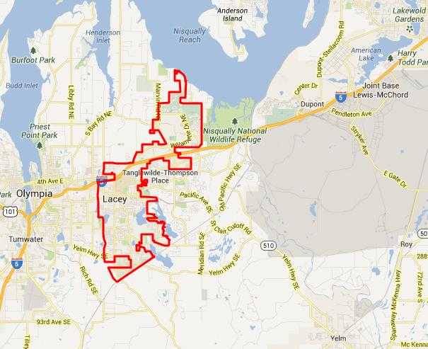city of lacey map