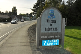 LaConner  welcome sign