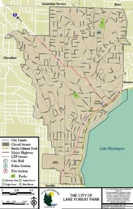 lake forest park map