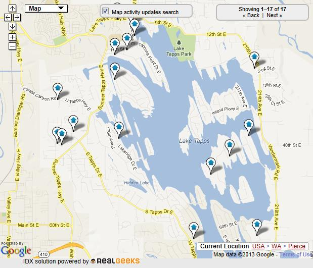 lake tapps map