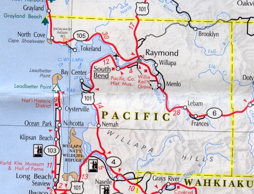 pacific county map