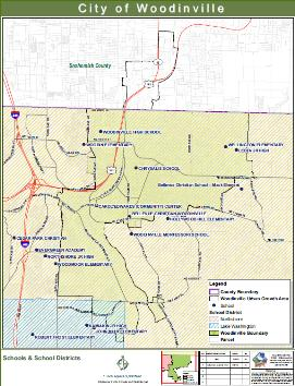 woodinville school map