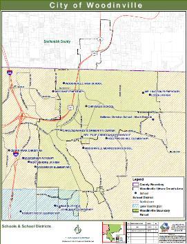 woodinville school map