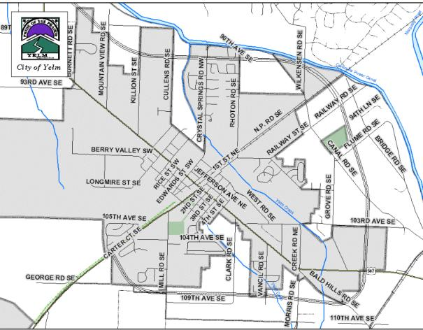city of yelm map