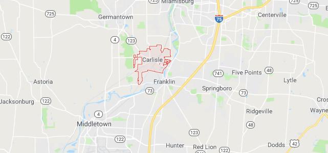 Carlisle OH map