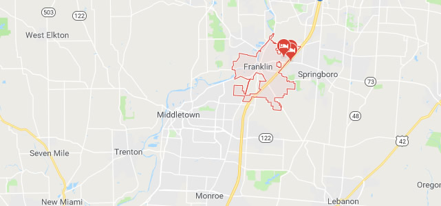 Franklin OH map