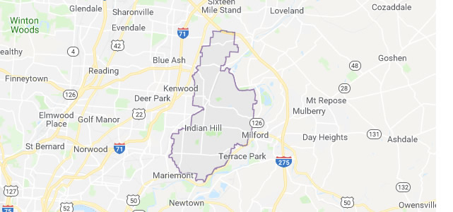 Indian Hill OH map