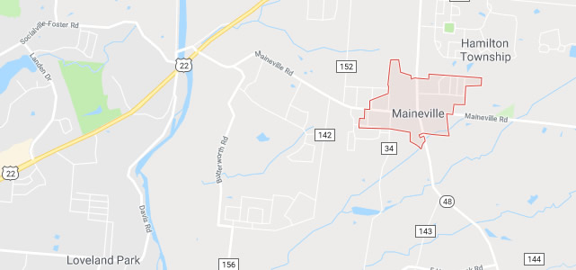 Maineville OH map
