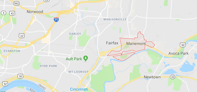 Mariemont OH map