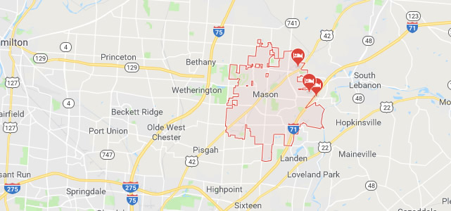 Mason OH map