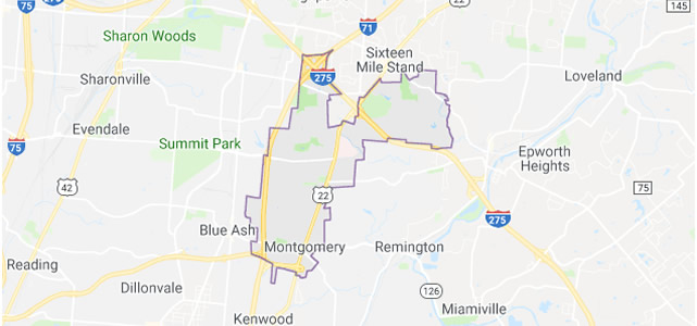 Montgomery OH map