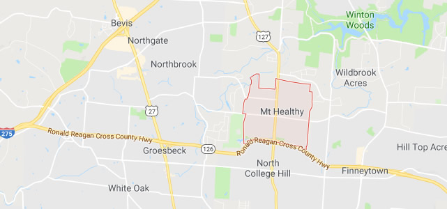 Mt. Healthy OH map