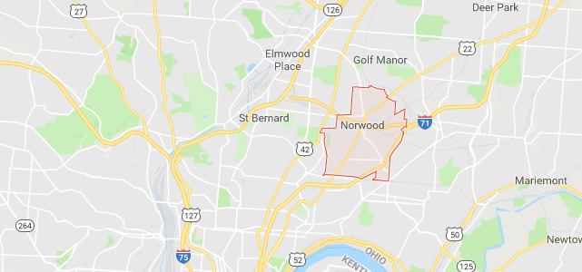 Norwood OH map