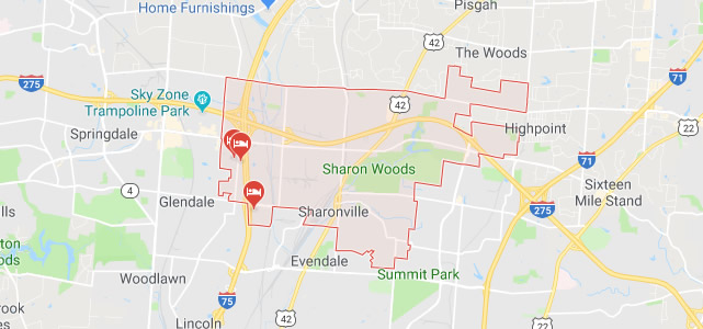 Sharonville, OH Map