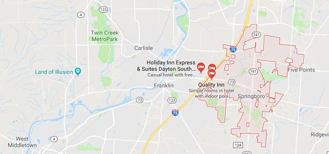 Springboro OH Map