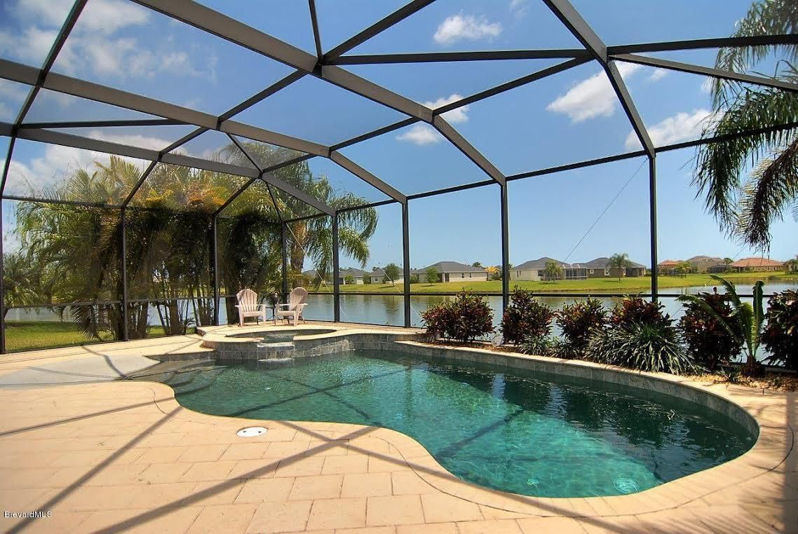 Just sold stunning pool home daintree viera florida for Florida pool homes