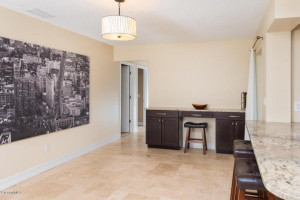 Beautiful travertine flooring throughout!