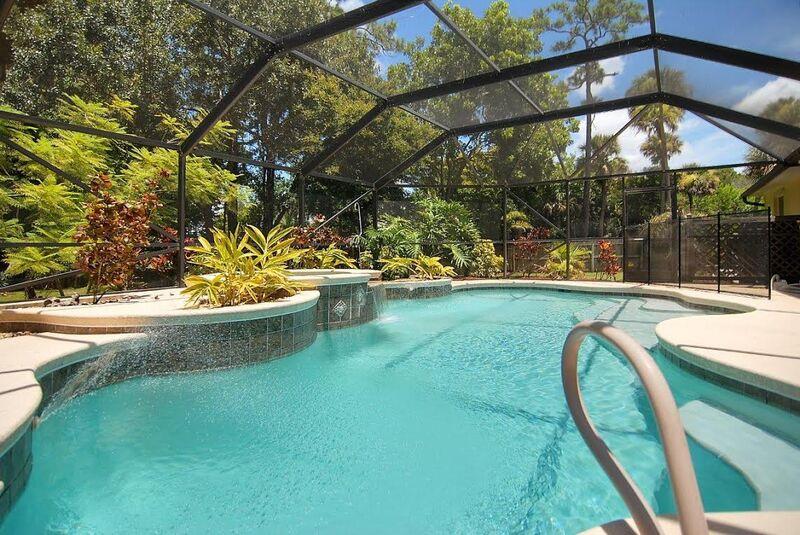Beautiful screened lanai and pool