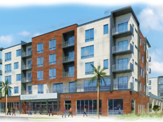 Artists rendering of Highline building to be constructed in downtown Melbourne (image from Florida Today)