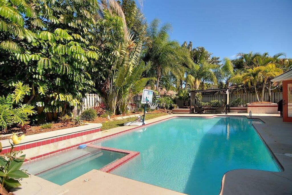 Beautiful backyard with pool and spa