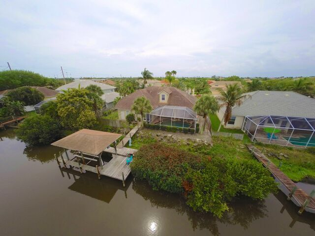 Aerial View of 162 Island View Drive, Indian Harbour Beach