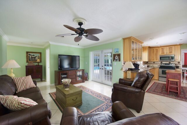 Family Room, open to Kitchen and Lanai access