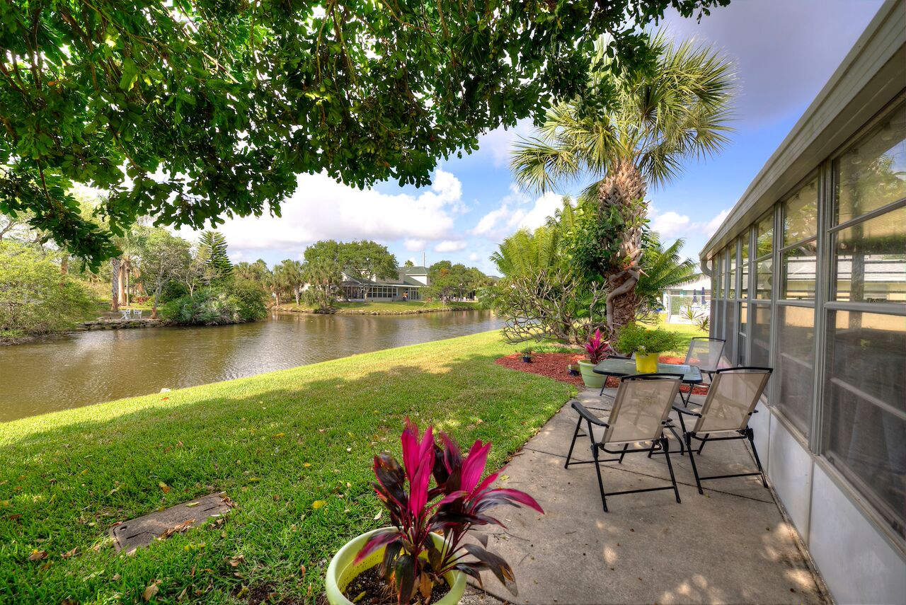 Indian Harbour Beach, FL Real Estate: Completely Updated  Townhouse on a Wide Canal