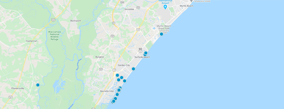 Grand Strand Interactive Map Search