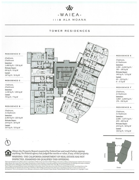 Waiea Residence Floor plans