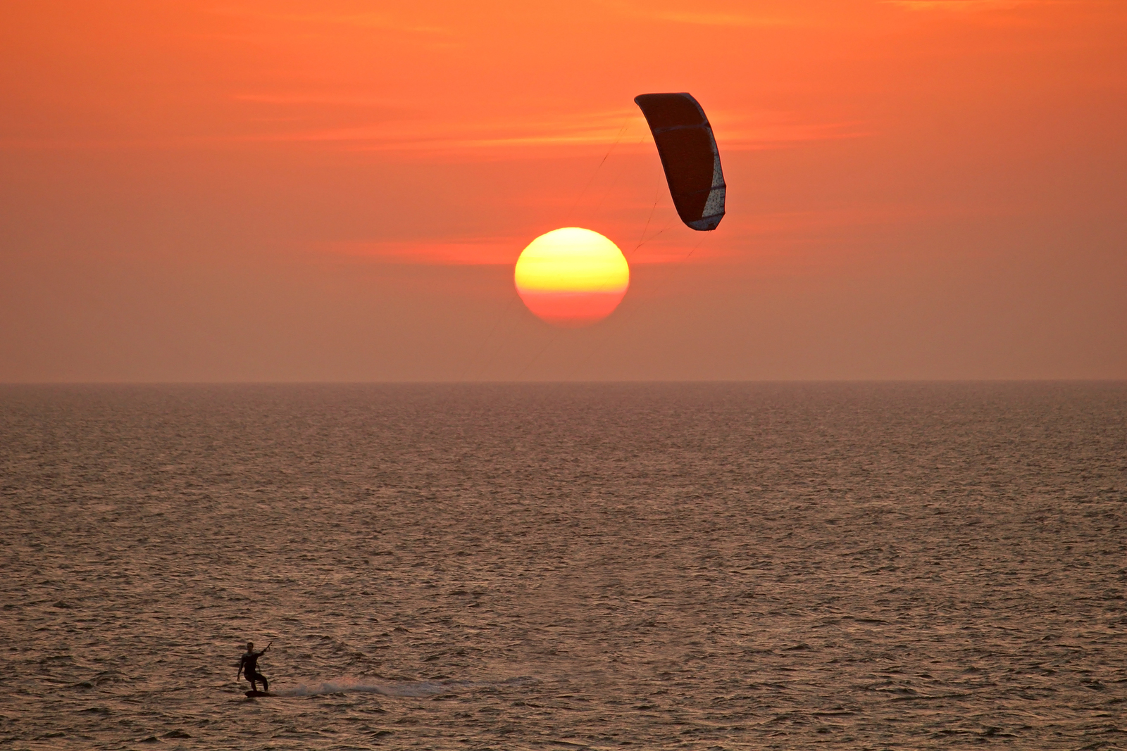 Kite Surfing on Hatteras Island