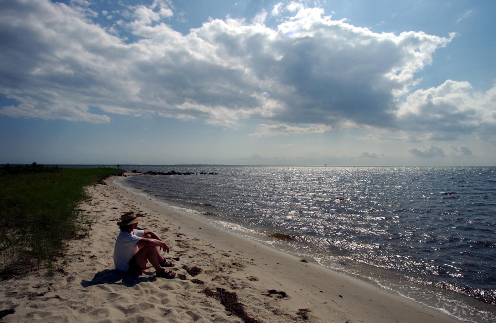 Peaceful beach on Hatteras Island