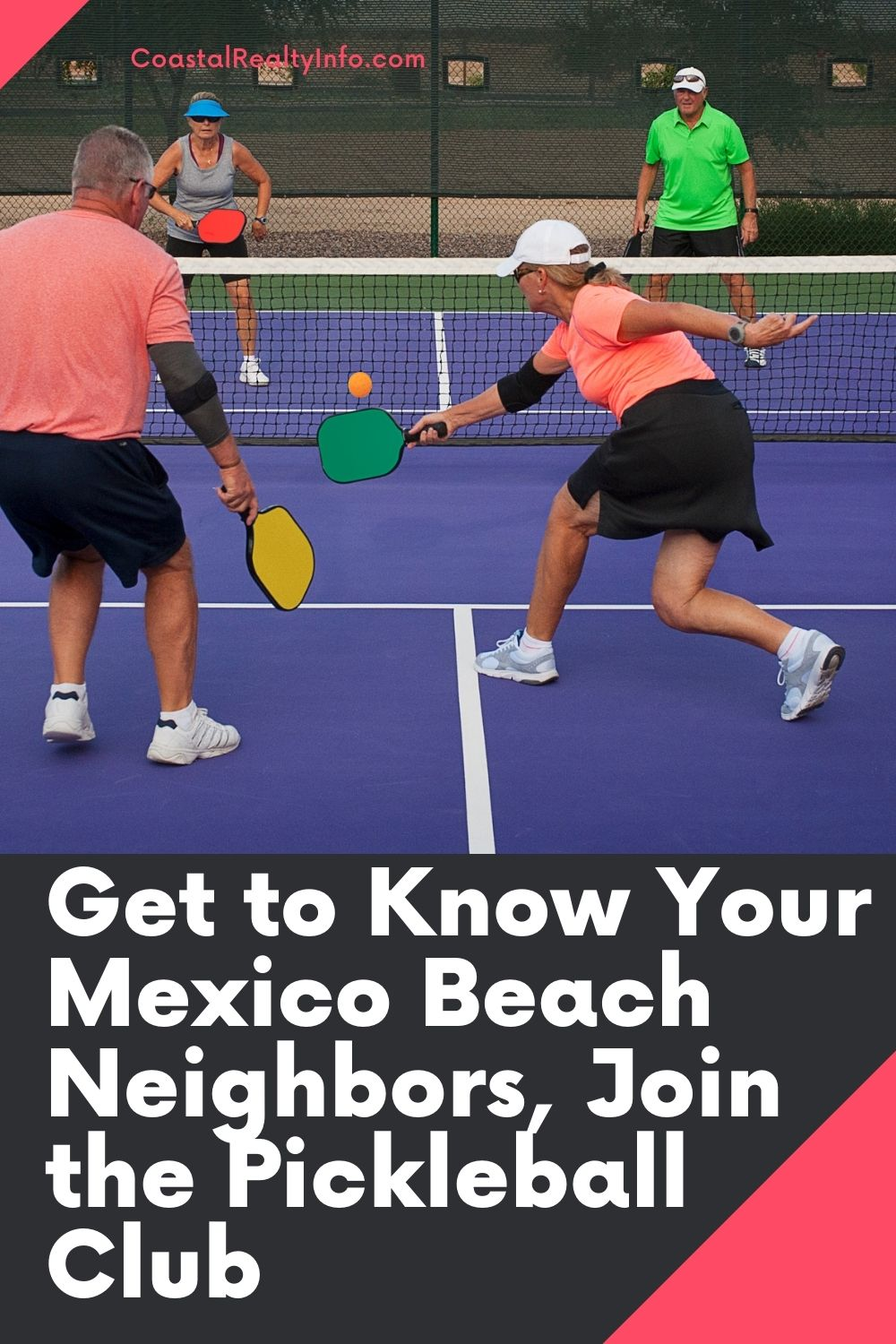 Get to Know Your Mexico Beach Neighbors, Join the Pickleball Club